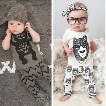 2018 fashion baby boy clothes short sleeve animal prited summer hot sale cotton baby boy and girls newborn bebes clothing set