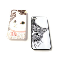 Cats iPhone 4/4s or 5 Case from WANDERLUSTINY