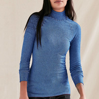 Vintage Blue Ribbed Tunic Top | Urban Outfitters