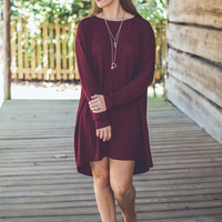Pumpkin Spice Tunic in Maroon
