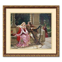 ''The End of The Song'' Framed Wall Art by Edmund Blair Leighton (Beige/Khaki)