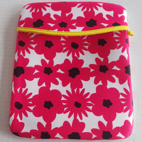 Padded cushioned iPad Protective Cover, cushioned iPad case, pink flower iPad sleek design case cover