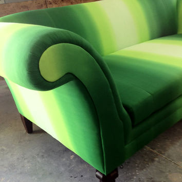 Whimsical Sofa Couch Rolled Arms Shown in Unique by metrosofa