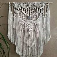 Large Macrame Wall Hanging Tapestry Woven Wall Hanging Wall Art Fiber Art Boho Decor Bohemian Art Home Decor Macrame Hanging Hippie Decor