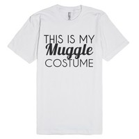 This Is My Muggle Costume-Unisex White T-Shirt