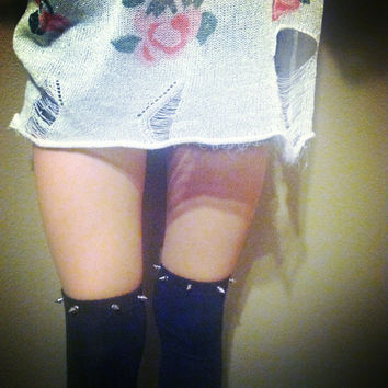 Spiked Over The Knee Socks
