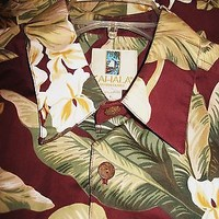 KAHALA  HAWAIIAN SHIRTS VINTAGE  TROPICAL FLOWERS CASUAL!SIZE L !MADE IN HAWAII