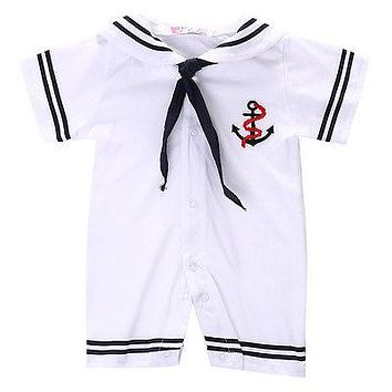 Baby Romper Baby Boys Girls Naval necktie Romper Clothes One Piece Jumpsuit