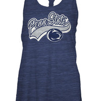 Penn State Nittany Lions Womens Navy Blue Nittany Lions Cinch Tank Top
