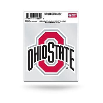 "Licensed Ohio State Buckeyes NCAA 3.5"" Small Static Cling Window Car Decal OSU by Rico KO_19_1"