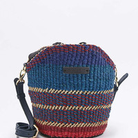 AAKS Manni Mini Purple Raffia Shoulder Bag - Urban Outfitters