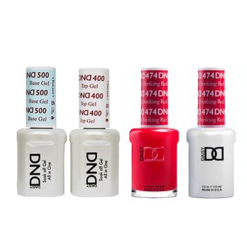 DND - Base, Top, Gel & Lacquer Combo - Striking Red - #474