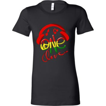 Jamaica One Love Reggae Carribean Music Pride Bella T-shirt