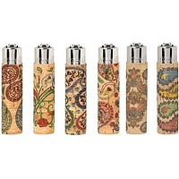 Clipper Cork Sleeve Lighter Paisley Series (Pack of 3)