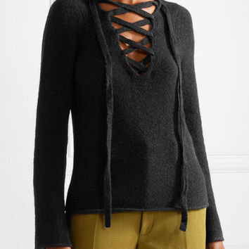 L'Agence - Candela lace-up knitted sweater