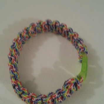 Candy stripe paracord parachute cord 550/325 bracelet with survival buckle or regular buckle