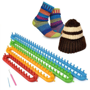 4 Size Quality Plastic Shawl Hat Socks Knitter Knifty Long Knitting Loom = 1929775364