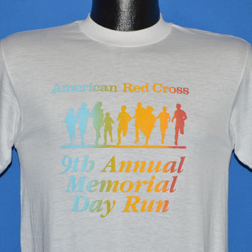 80s American Red Cross Rainbow t-shirt Small