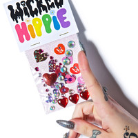 Wicked Hippie Love On Face Jewelz Multi One