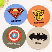 superman silicone dining table placemats coaster coffee cups drinks kitchen accessories cup bar mug placemats coaster mats  pads