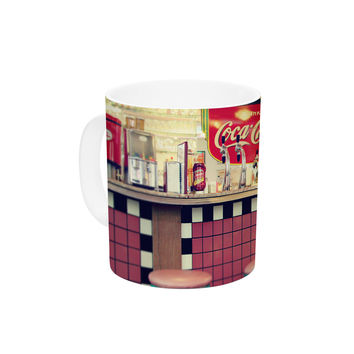 "Sylvia Cook ""Retro Diner"" Coca Cola Ceramic Coffee Mug"