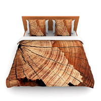 "Susan Sanders ""Rustic Dream"" Brown Wood Lightweight Duvet Cover"