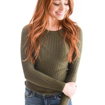 Forest Cable Knit Sweater