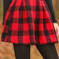 The Waldorf Way Skirt-Red/Black
