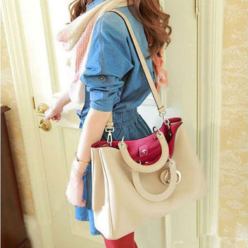 Stylish Patchwork One Shoulder Bags [6582659719]
