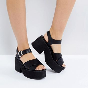 ASOS TROUBLESOME Chunky Sandals at asos.com