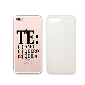 Tequila Slim Iphone 7 Case, Clear Iphone 7 Case Plastic Hard Case Unique Design (iphone 7)