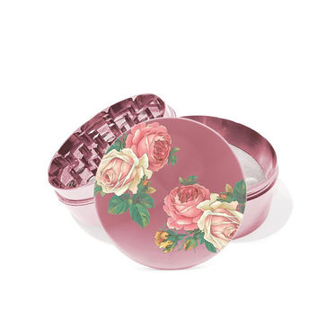 Wild Flower 4 Piece Metal Herb Grinder With FREE laser engraved Personalize the back of the grinder with your own message.0328