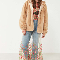UO Lilly Zip-Up Faux Fur Jacket | Urban Outfitters