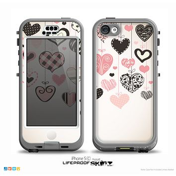 The Hanging Styled-Hearts Skin for the iPhone 5c nüüd LifeProof Case