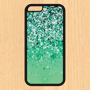 Green Sparkle Textured Print Design Art iPhone 4 / 4s / 5 / 5s / 5c /6 / 6s /6+ Apple Samsung Galaxy S3 / S4 / S5 / S6