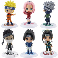 FREE SHIPPING 6pcs Naruto & Friends Action Figure