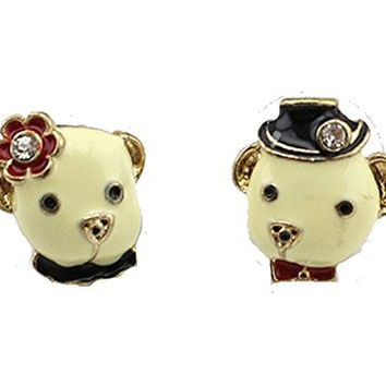 Basket Hill, Pug / Dog or Bear Momma and Pappa Girls Post Earrings