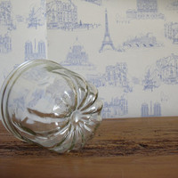 Vintage French glass cake mold