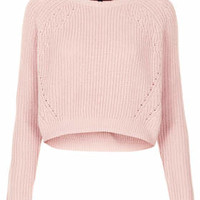 PETITE RIBBED CROP JUMPER