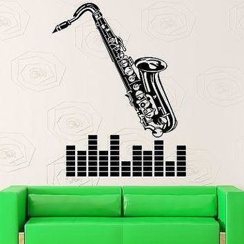 Wall Sticker Vinyl Decal Music Saxophone Musical Instrument Jazz Blues Unique Gift (ig2188)