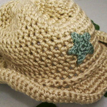Baby Boy Cowboy -Tan and Sage Green--Baby Shower Gift- --#219