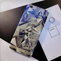 Bling Bling Diamond Blue Silcone Case for iPhone 7 7Plus