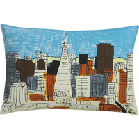 "san francisco downtown 18""x12"" pillow"