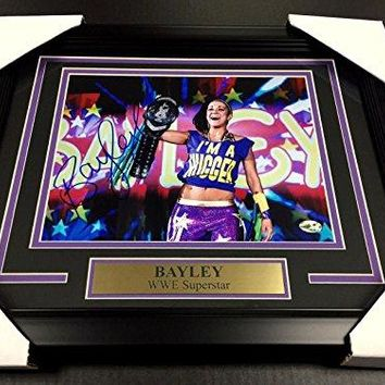 BAYLEY WWE WWF FRAMED 8x10 PHOTO #2 AUTOGRAPHED SIGNED AUTHENTIC SIGNATURE - Autographed Wrestling Photos