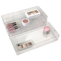 "US Acrylic 12""x6""x2"" Stackable Drawer Organizer - 3pk"