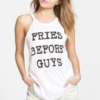 Junior Women's Recycled Karma 'Fries Before Guys' Graphic Tank