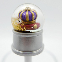 Purple Crown Snowdome PEN (Snowglobe PEN) ball-point pen BLACK ink