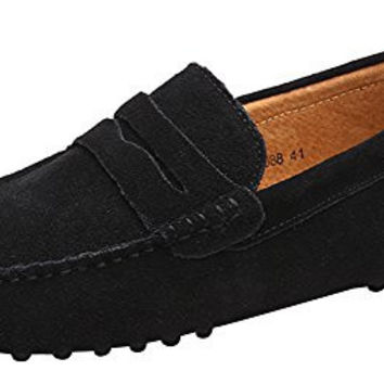 JIONS Men's Penny Loafers Moccasin Driving Shoes Slip On Flats Boat Shoes