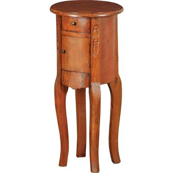 End Table Natural Painted Finish on Solid Mahogany 1 Drawer