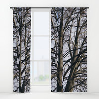 Stained Glass Tree Window Curtains by Stephen Linhart